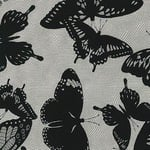 Jennifer Sampou butterflies in black in net - smoke