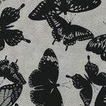 Jennifer Sampou butterflies in black in net - smoke