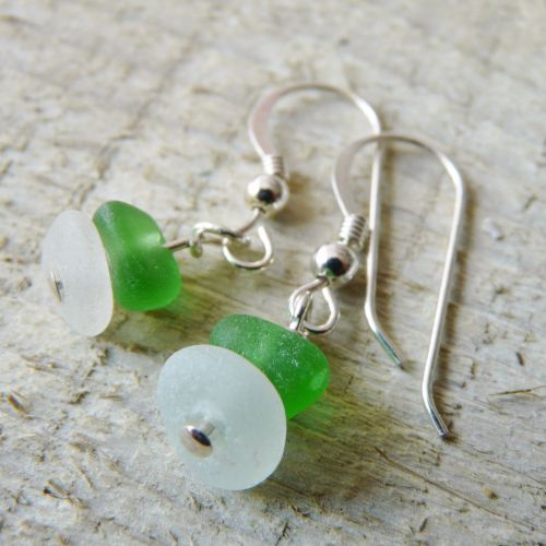 Small and Chunky Sea Glass Earrings