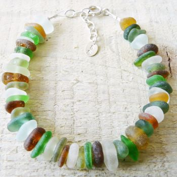 All Glass - Sea Glass Bracelet