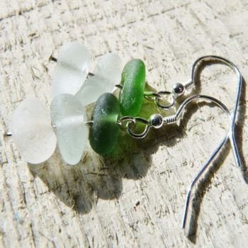Sea Glass Tower Earrings