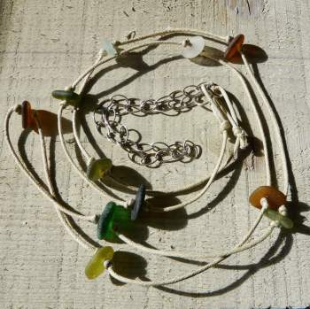 Get Knotted - Long Sea Glass Necklace
