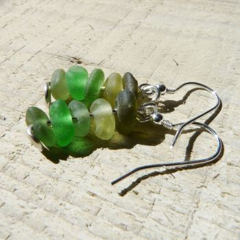 5 Green Bottle Earrings