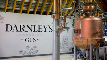 Gin Distillery Tour Lunch for Two at Darnley's Gin Distillery