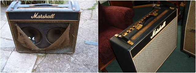 Here's a restored amp