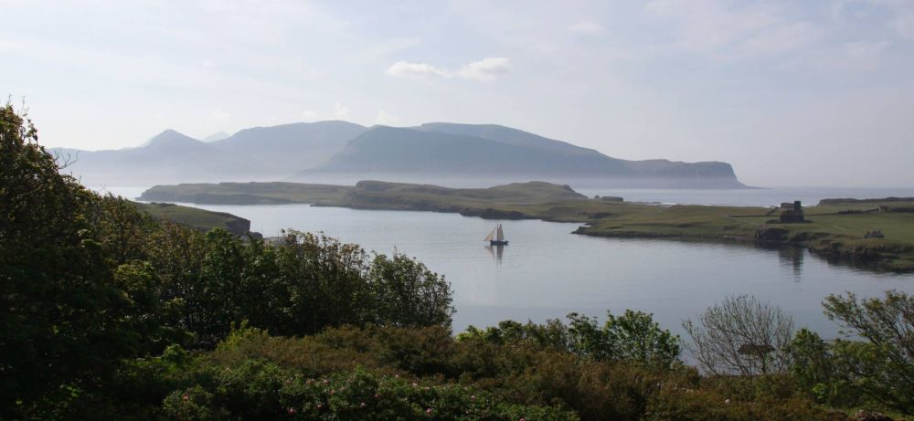 This is Canna, a bird sanctuary. The island's coastline supports over 20,000 breeding seabirds.