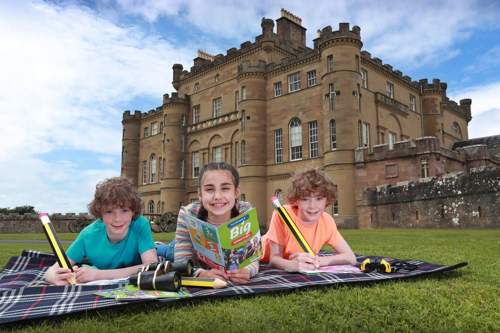 At Culzean Castle, youngsters give the first edition of The Lidl Book of Big Adventures a go