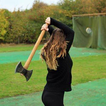 Give axe throwing a go!