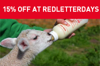 Get 15% off experiences at Red Letter Days - just use the code RAHW2020 before 1 April 2020