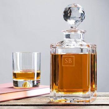 Engraved Crystal Decanter - Initials