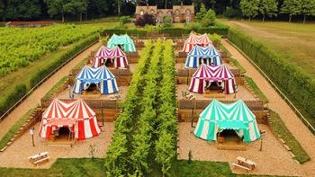 What about a Two Night Medieval Yurt Break for Two at Leeds Castle, Kent?