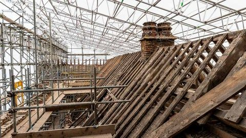 Members are supporting the restoration of the roof at Oxburgh Hall in Norfolk