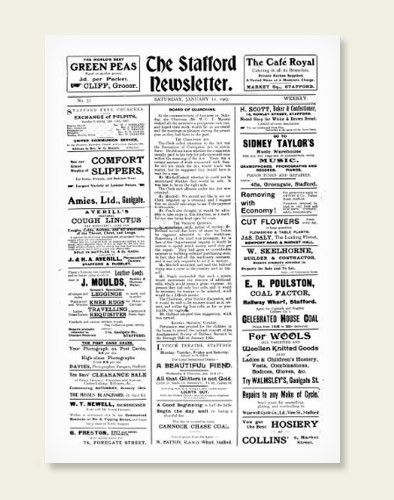 Pages from the Staffordshire Newsletter have just been added to the archive