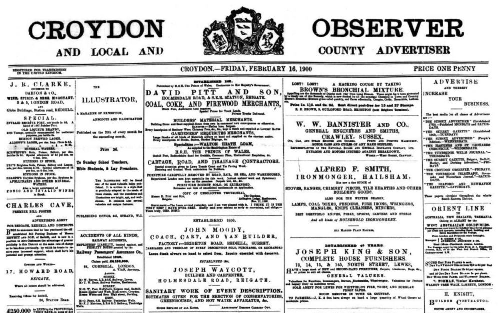 Pages from the Croydon Observer were added in June 2021