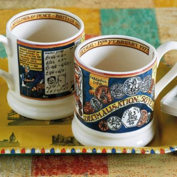For history lovers, how about this Events Pounds, Shillings And Pence 1/2 Pint Mug?