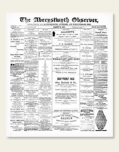 Pages from the Aberystwyth Observer have been added in the week of 5th July 2021