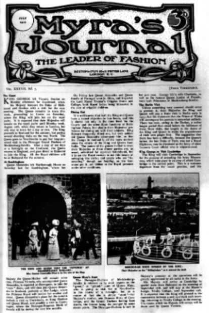 Myra's Journal of Dress and Fashion was founded in 1875