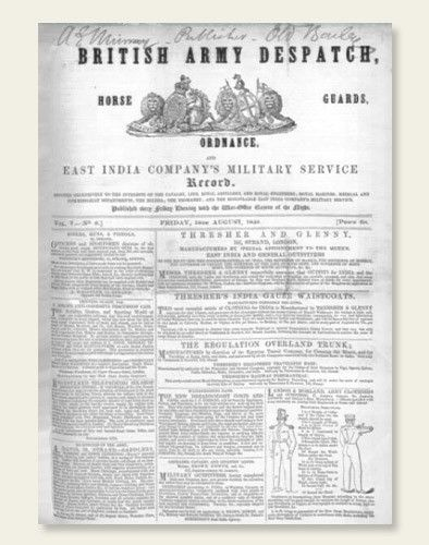 6,010 pages (1848-1856) from the British Army Despatch have been added to the British Newspaper Archive