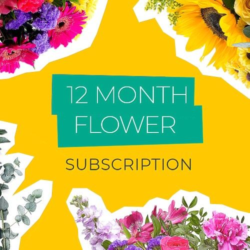 Give a 12 month flower subscription