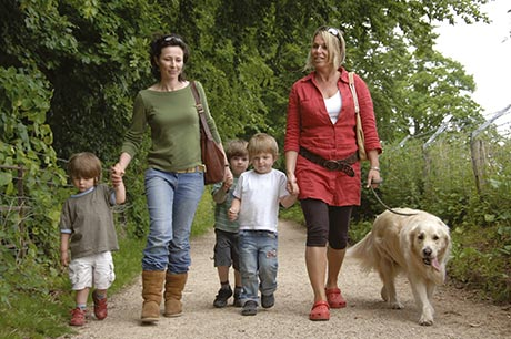 Take a look at the English Heritage properties which are dog friendly