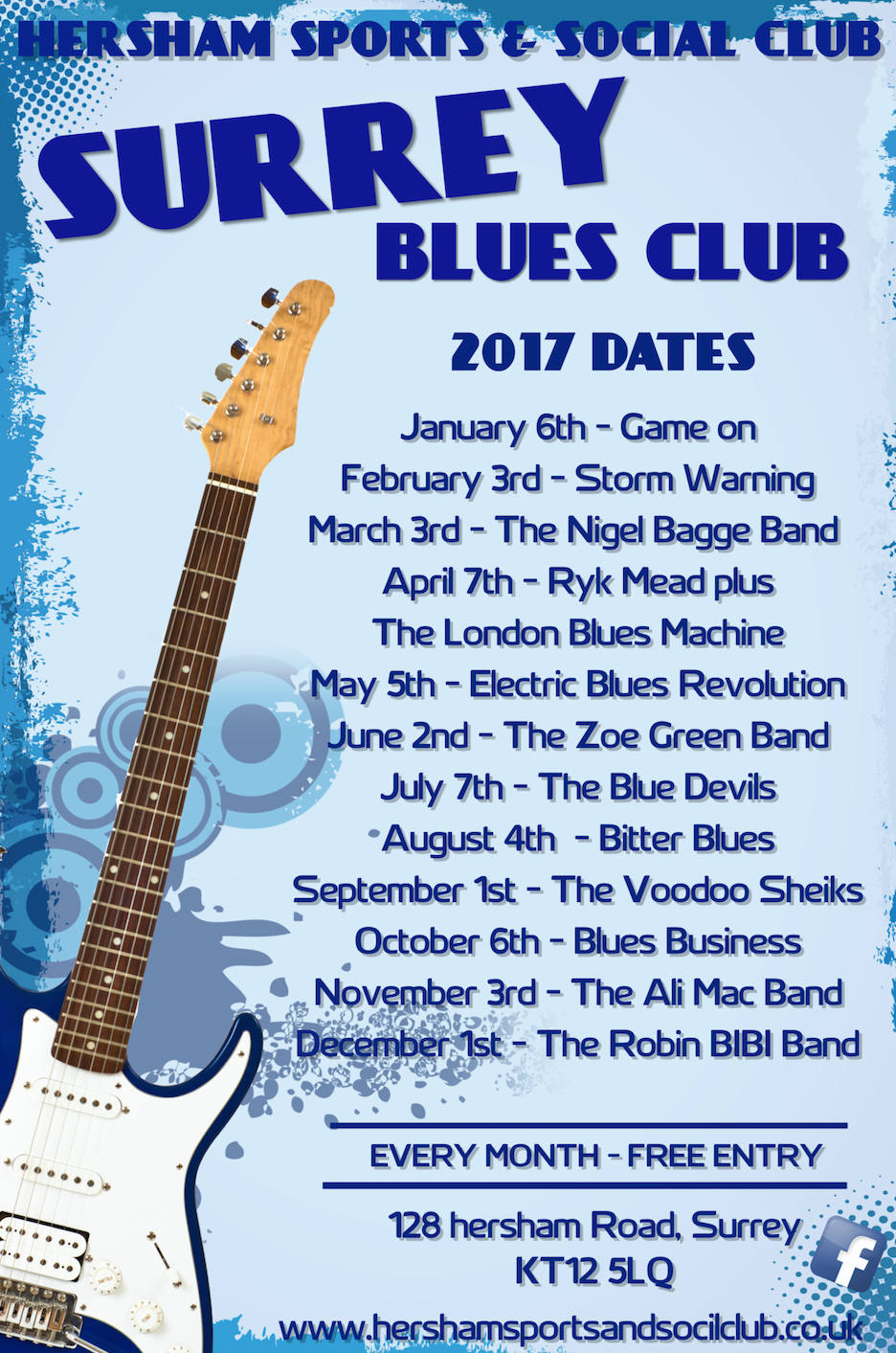 Surrey Blues Poster 2017