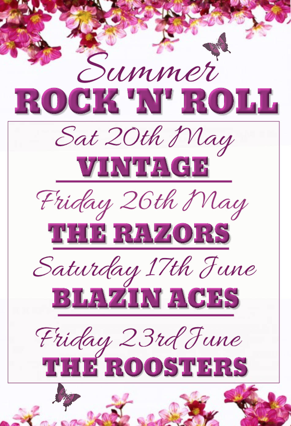 Summer Rock n Roll Poster
