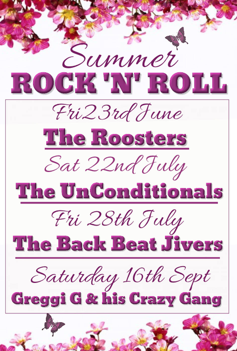 Summer Poster - Rock n roll