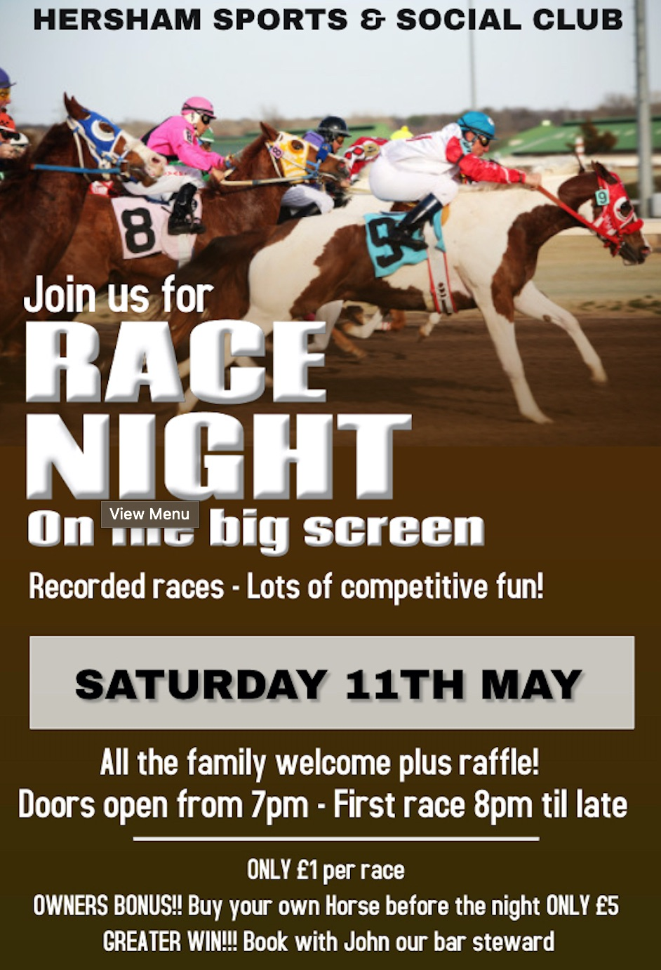 Race Night Poster - May