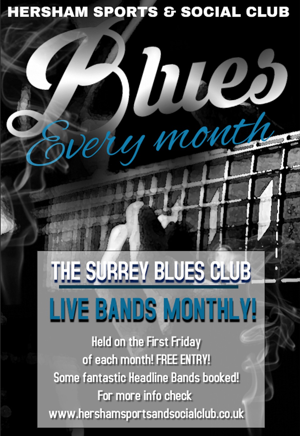 Surrey Blues Monthly Poster