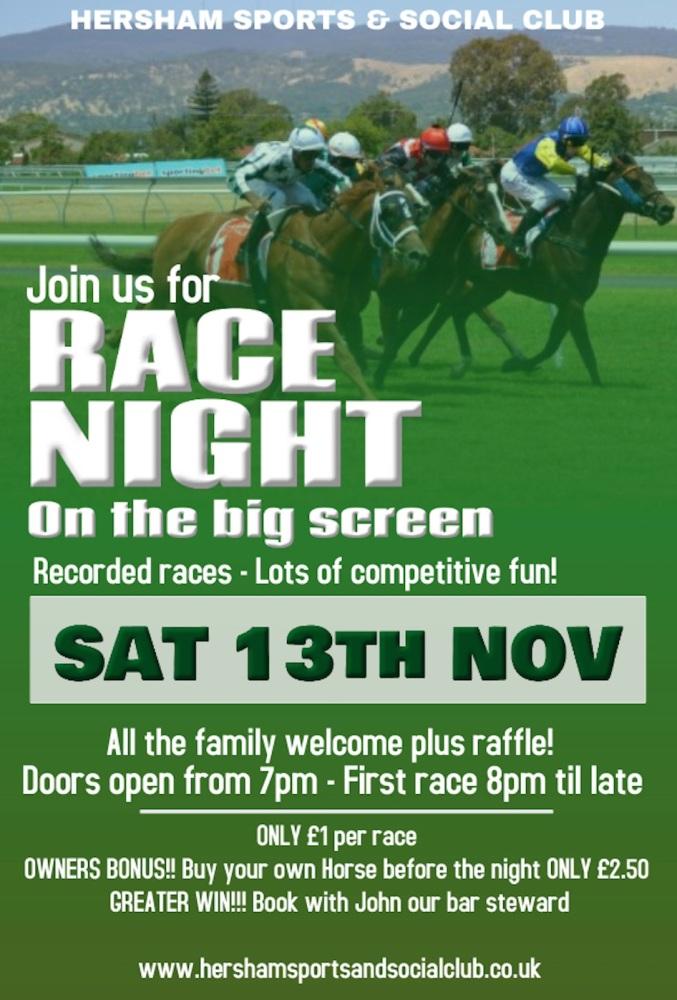 Race Night - 13th Nov