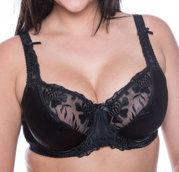 LG925 - 10 Satin Bras - Black and White colours - 34D - 46J Only £5.65 Each