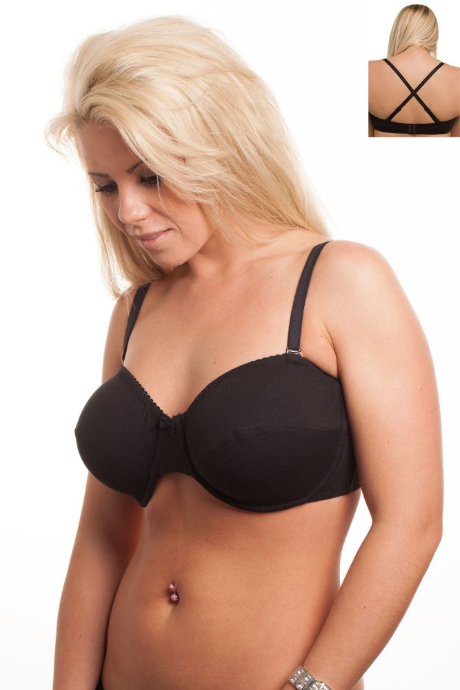 MW295 - 50 COTTON Strapless Bras - only £3.50 Each