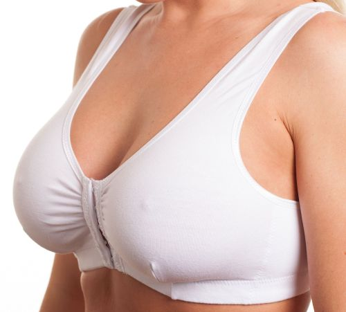 CB222 - 36 FRONT FASTENING COTTON BRAS - only £3.40
