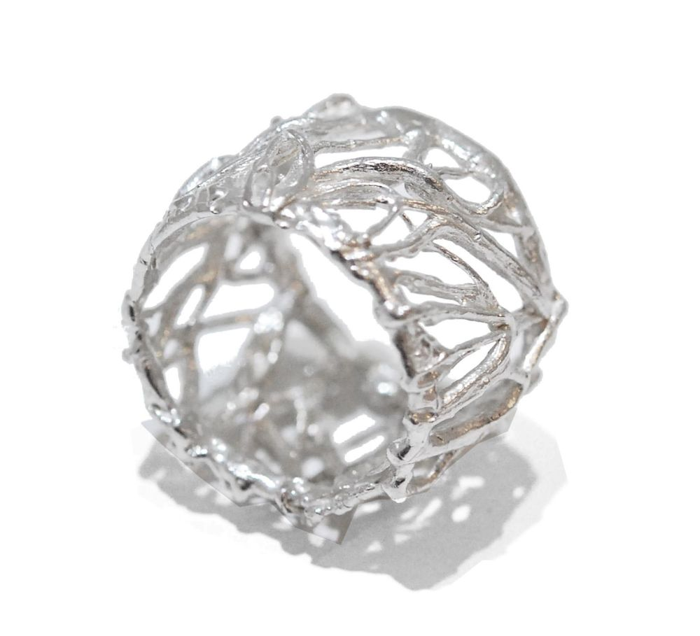Silver Web Ring