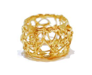 Gold Webbed Ring