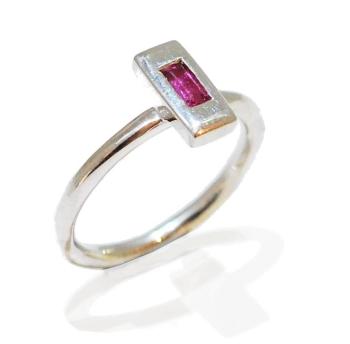 Blush Gemstone Ring, handmade and unique.