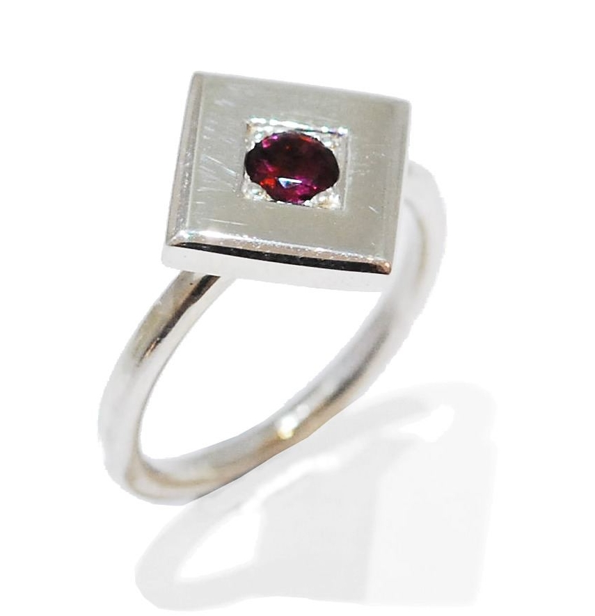 Cherry Red Proposal Ring