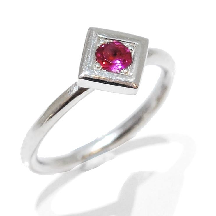 Strawberry Proposal Ring, pink sapphire handmade gemstone ring