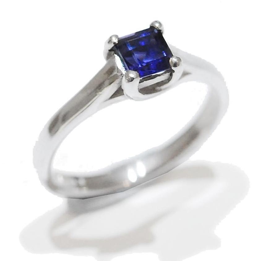 Midnight Proposal Ring, Iolite gemstone ring