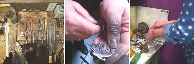 day silver jewellery course London - workshop - jewellery classes
