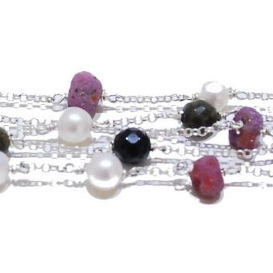 Rainbow Rocks Handmade Gemstone Bracelet