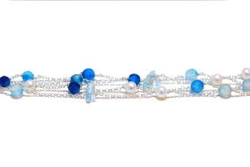 Aqua Rainbow Rocks Bracelet
