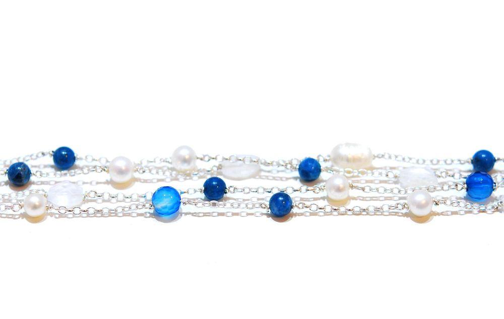 Agate And Apetite Rainbow Rocks Bracelet
