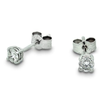 Diamond Stud Earrings - .25 total carat weight