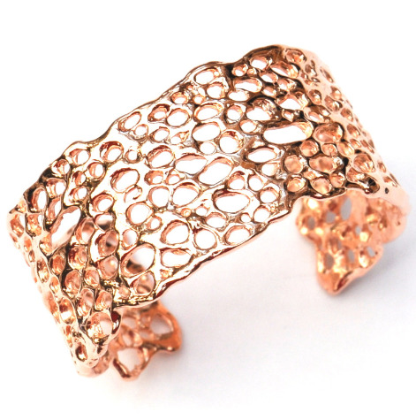 Contemporary rose gold cuff, designer jewellery by La Corza