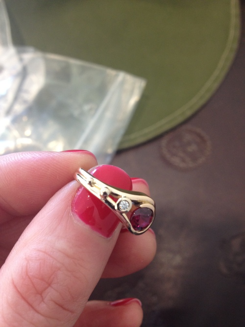 Bespoke ruby and rose gold engagement ring