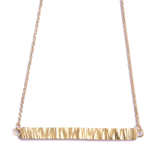 handmade jewellery London, bar necklace by designer Clara Jackson