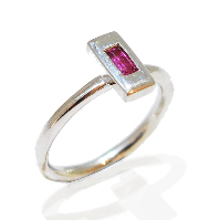 handmade and unique pink tourmaline gemstone proposal ring, temporary engagement ring