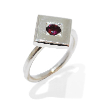 handmade and unique ruby gemstone propsal ring, temporary engagement ring