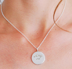 marry me pendant, handmade engraved silver pendant